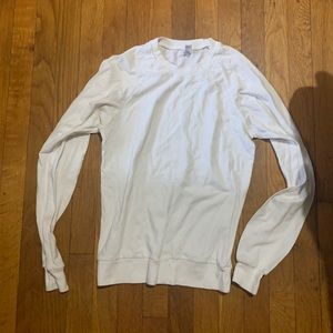 American Apparel Long Sleeve White Top Size S